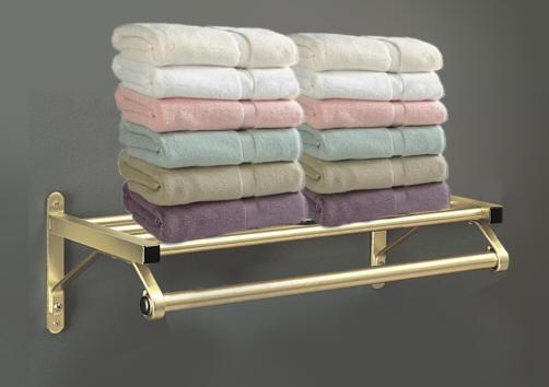 Glaro Wall Mounted Towel Racks with Towel Bar and Shelf.