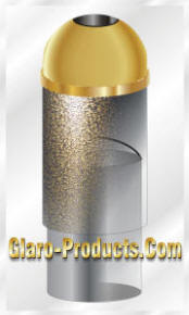 Glaro Open Dome Top Trash Receptacle