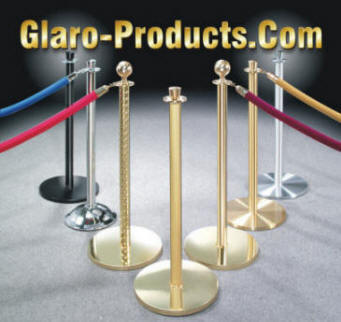 Glaro Theater Posts and Ropes, Crowd Control Systems